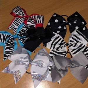 Cheer and Dance Hair bows and Clips